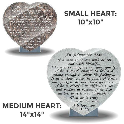 Father memorial poem on grave plaque