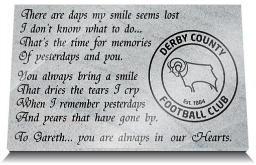 Derby County Football Club Grave Marker