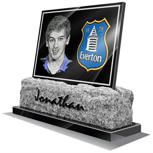 Everton FC Memorial plaque for grave