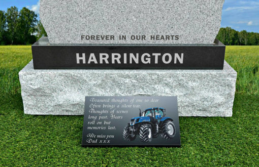 Tractor Grave Ornaments with memorial poem for farmer