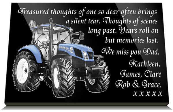 tractor grave ornaments for a father
