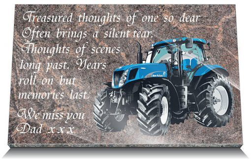 Tractor memorial gift for a farmer