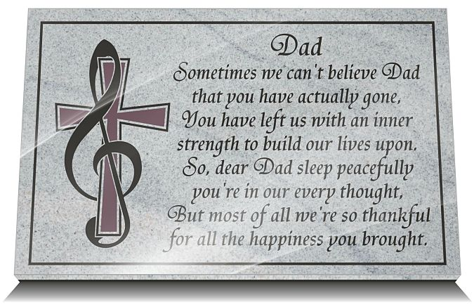 Father Loss Poem Memorial Personalized In Stone 2020