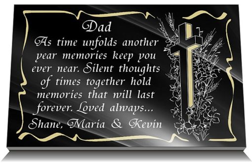 Father Grave plaques with memorial quotes for Dad's grave