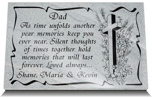 Things to put on Dad's grave with funeral poems and Christian Crosses