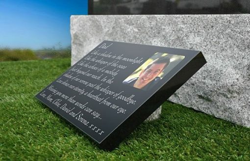 Grave memorial gifts for Father with photo and funeral verse
