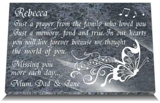 Gift idea for 1 year death with personalized family tribute poem