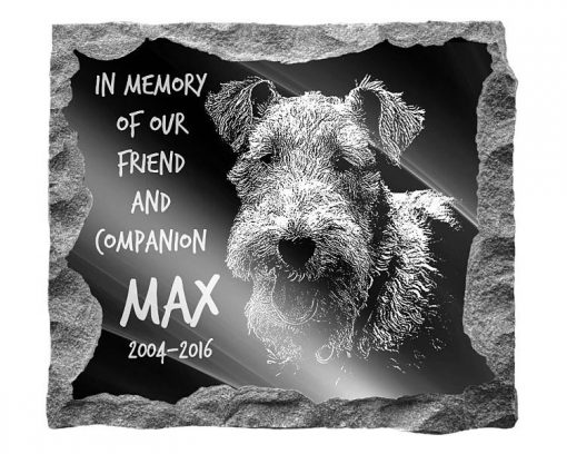 Fox Terrier Dog Memorials and gravestones