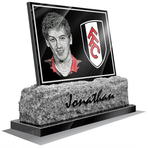 Fulham FC Memorial plaque for grave