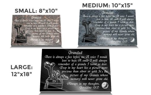 Golf course memorial plaques for graves online