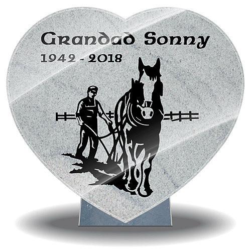 Grandpa grave ornaments made from granite with lifetime guarantee