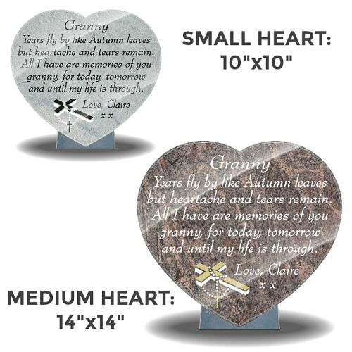 Granny Memorial Plaques with Grandmother tribute poem