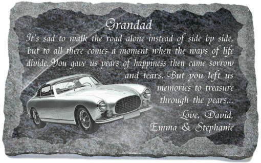 Grandfather grave ornaments with memorial poem