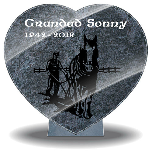 Grandad memorial gifts with horse and farmer