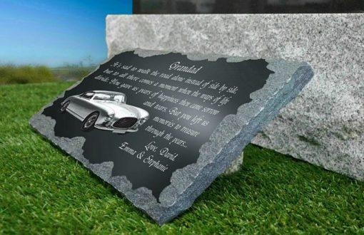 Grandad Memorial Plaques with vintage car