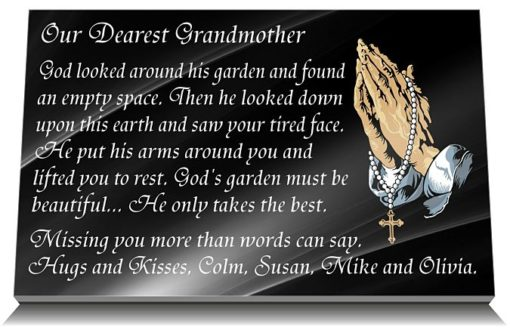 Grandmother Grave Marker with Granny memorial verses