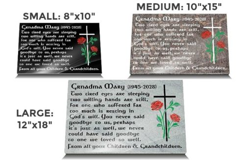 Grandmother Graveside Gifts with sympathy messages