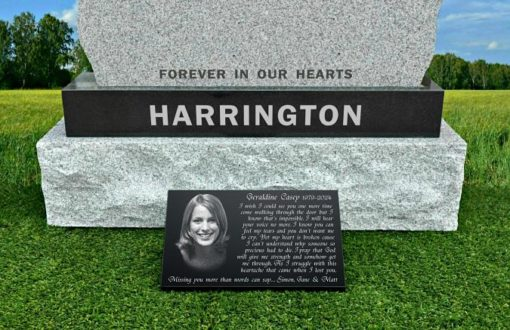 Personalized wife headstone photos for graves