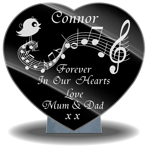Personalized Grave Gifts with heart-shaped design