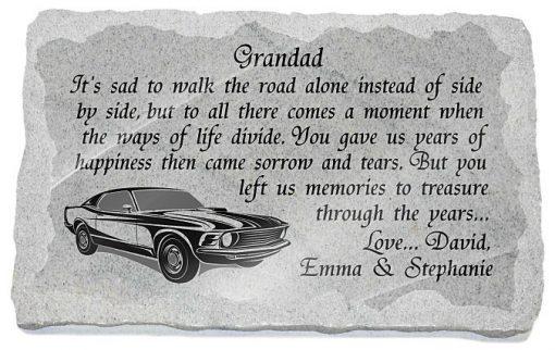Grave ornaments for Grandad
