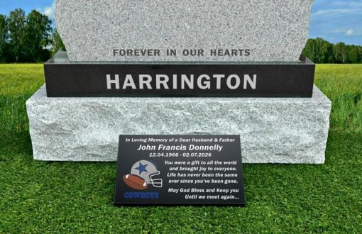 American NFL Grave Markers for Cemetery Graves for Football fans