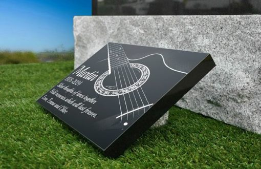 Guitar Grave Plaques for Headstones with string instruments images