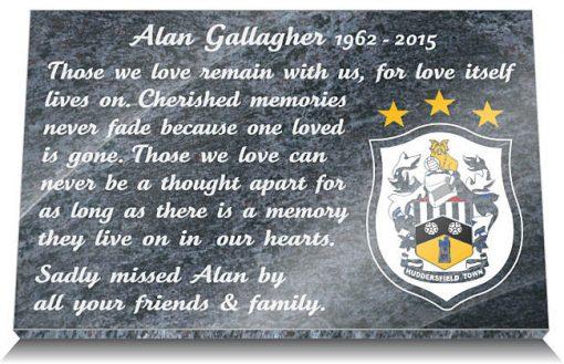 Huddersfield Town Football Club Memorial Plaque