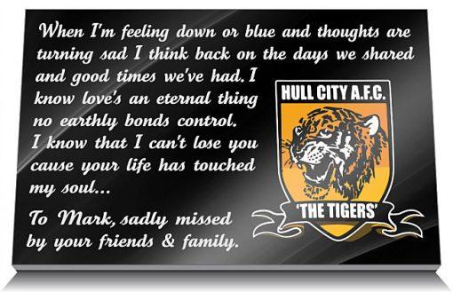 Hull City AFC Memorial Tablet