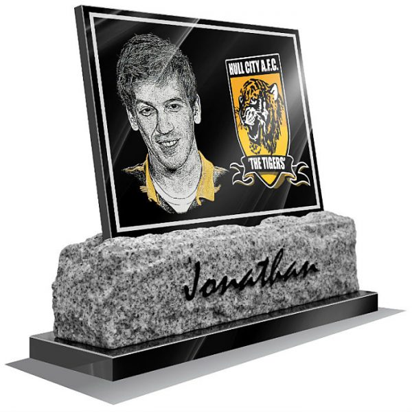 Hull City FC memorial plaque for grave