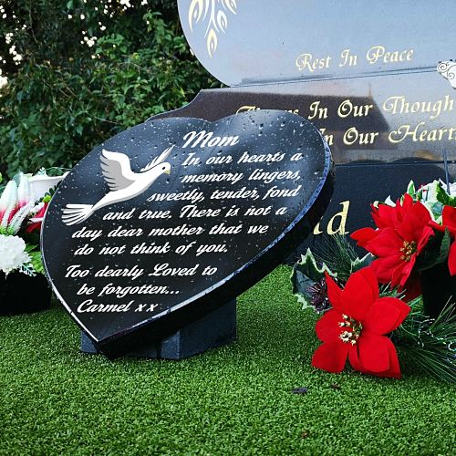 Graveside memorial Plaques Ideas for Mother with personalized funeral poem