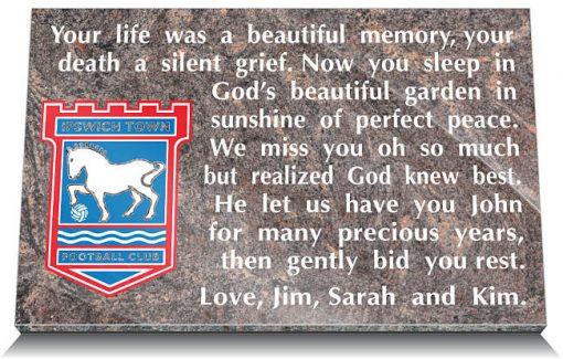 Ipswich Town AFC Memorial Plaque