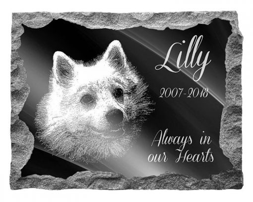 Japanese Spitz Dog Memorial plaques