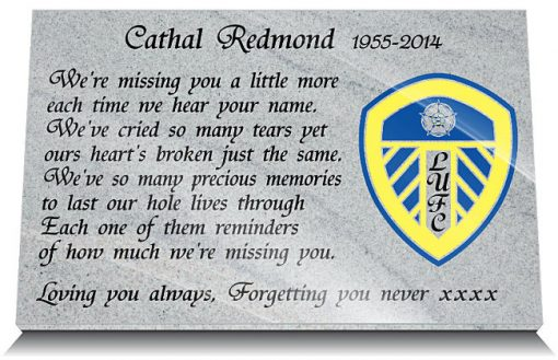 Leeds United FC Memorial plaques