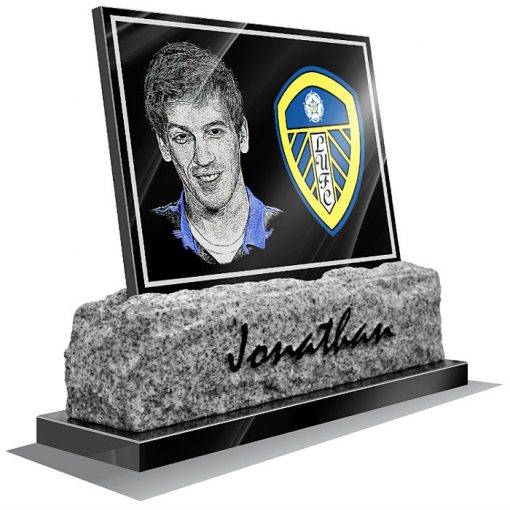 Leeds United FC Memorial plaque for grave