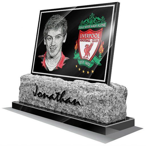 Liverpool FC Memorial plaque for grave