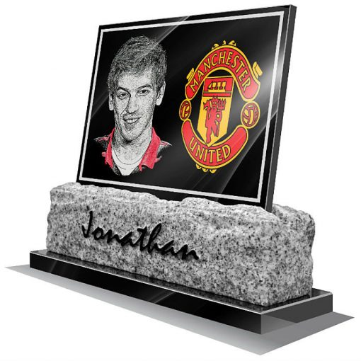 Manchester United FC Memorial plaque for grave