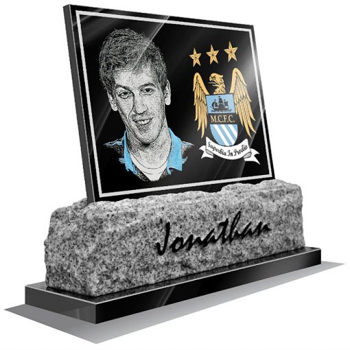 Manchester City FC Memorial plaque for grave