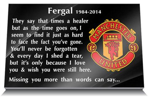 Manchester United Football Club Memorial Tablet