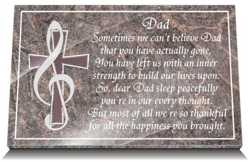 Music Memorial Gifts with Father tribute Quotes
