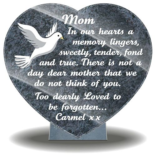 Personalized loss of Mum gift for grave with memorial poem