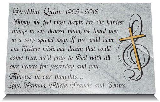 Mum memorial plaque with death of Mother poem