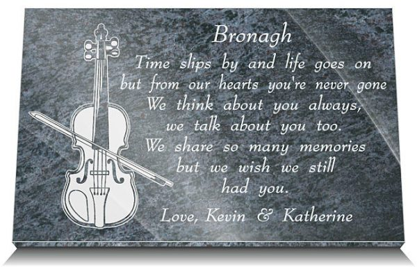 Violin Memorial Gifts with musician's remembrance poem