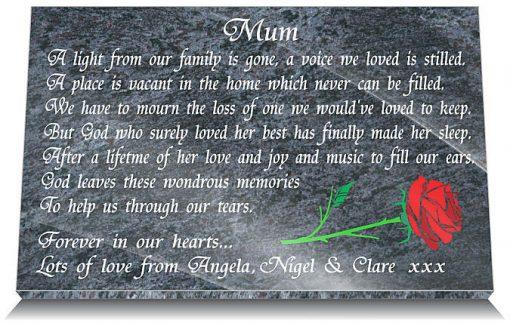 Memorial Plaque for a mother