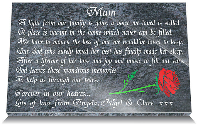 mother grave marker monuments mothers grave decorations mother s day