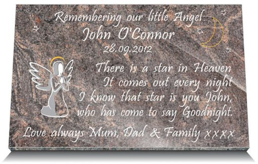 memorial plaques for children