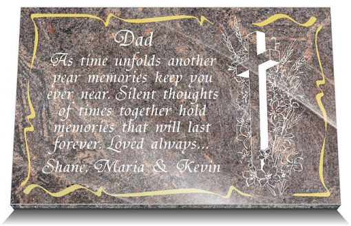 memorial plaques for dad