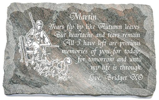 Hunting Memorial Plaques made from Granite