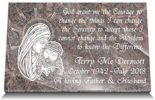Memorials plaques Catholic for the dead