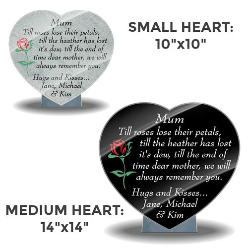 Mum Memorial Plaques with tribute poem and photo