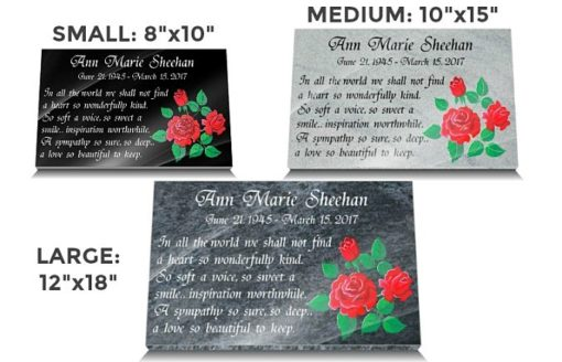 Mothering Sunday Grave Plaques with Remembrance Rose Gift in Granite